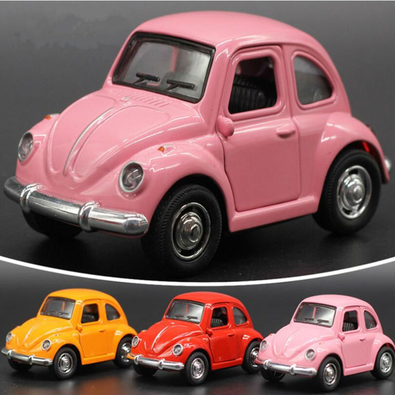 2016 New Vintage Classic Cars Police Model Car Alloy Baby Educational Scale Models High Quality Beetle Car Toys Retail(China (Mainland))