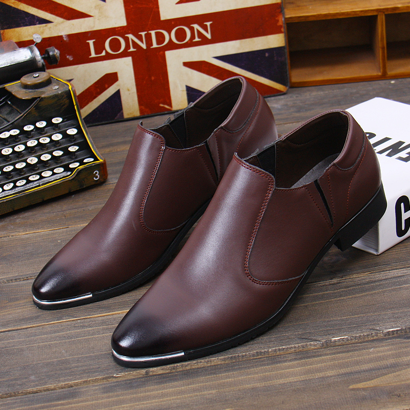 Fashion Popular Male Pointed Toe Genuine Leather Shoes New Business Dress Shoes Wedding Shoes For Gentleman Zapatos Hombre 8