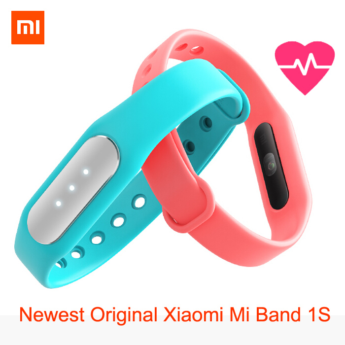 Newest Original Xiaomi Mi Band 1S featured heart rate monitor new smart wristbands for iPhone Xiaomi Mi4 Mi4i Android 4.4 phone <br><br>Aliexpress