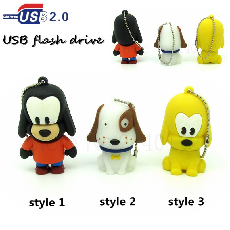 cartoon brown/white pet dog usb flash drive pen drive 4GB 8GB 16GB 32GB u disk cute animal flash disk pendrive Flash memory(China (Mainland))