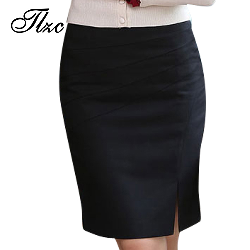 Charm Lady Wrapped Hip Design Formal Skirts Size S-2XL Korean Fashion Knee Length Slim Women Career Skirt Drop Shipping(China (Mainland))