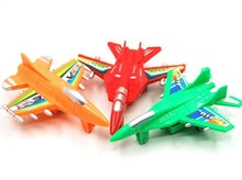 1pcs mini colorful plane toy Children plastic puzzle pull back play game with adult in the sky road for kids gift boy(China (Mainland))