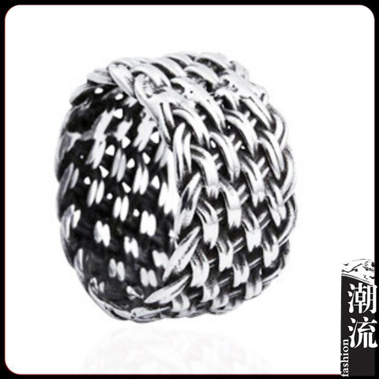 Really 925 silver vintage lucky Pure handmade Organization pattern ring for men women(China (Mainland))