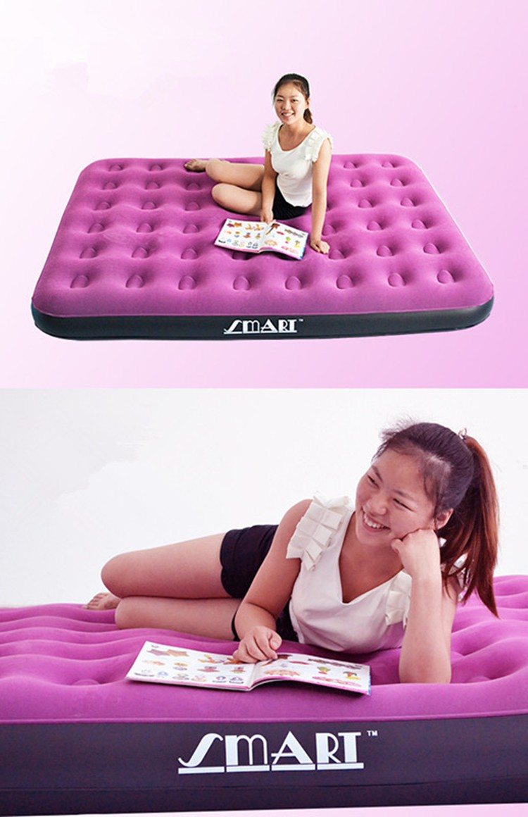 Purple inflatable mattress thickened portable widened enlarged honeycomb air cushion bed