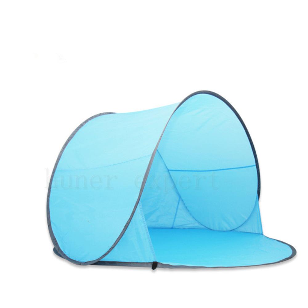 Anti UV Pop Up Folding Beach Sunshade Tent Summer Sun Shelter 2 Person Camping Hiking Quick Open Tent Blue(China (Mainland))