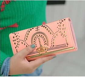 Free Shipping New Best Quality Natural PU Leather Wallets Women's Fashion Handbags Card Holders Clutch Women's Evening Bags(China (Mainland))