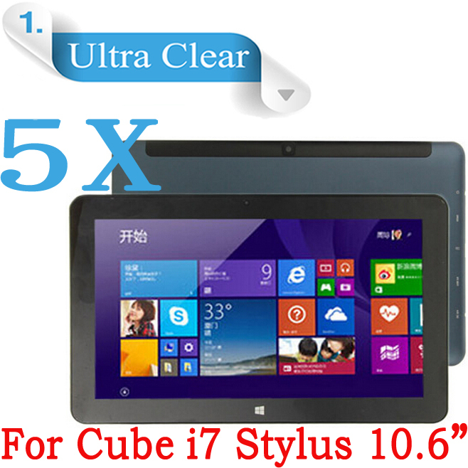 """5pcs& Wholesale 10.6""""inch High Definition LCD Screen Display Protector Film For Cube i7 Stylus Tablet PC Screen Protector(China (Mainland))"""
