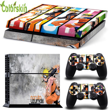 Skin sticker for playstation 4 console and manette ps4 vinyl skin cover for sony playstation 4 sticker for skin ps4 naruto