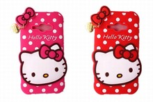 Phone Case Samsung Galaxy J1 ACE J110F J110H Lovely 3D Cartoon Heart Pendant Hello Kitty Shape Cover Silicone Housing - T3C MALL STORE store