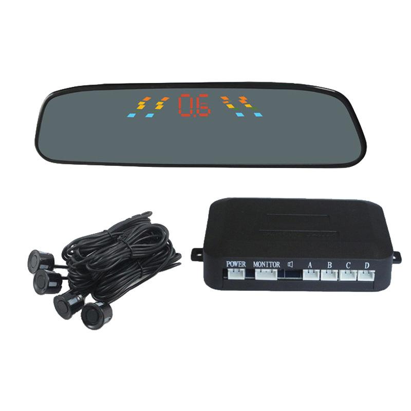 Car LED Parking Reverse Radar 4 LED Parking Sensors Car Reverse Backup Radar Kit Human Voice<br><br>Aliexpress