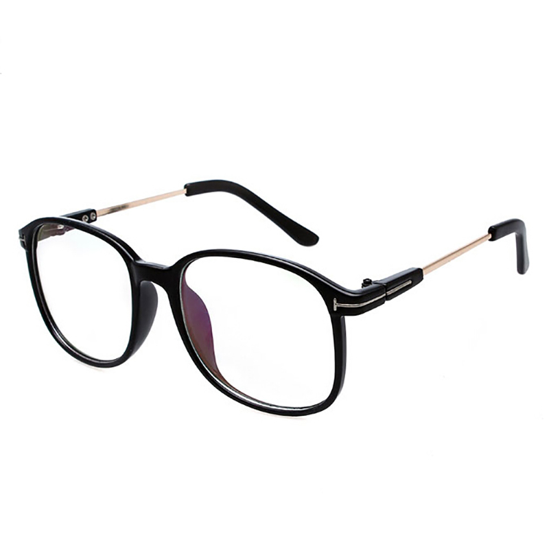 2016 brand big frame metal transparent computer eyeglasses ...