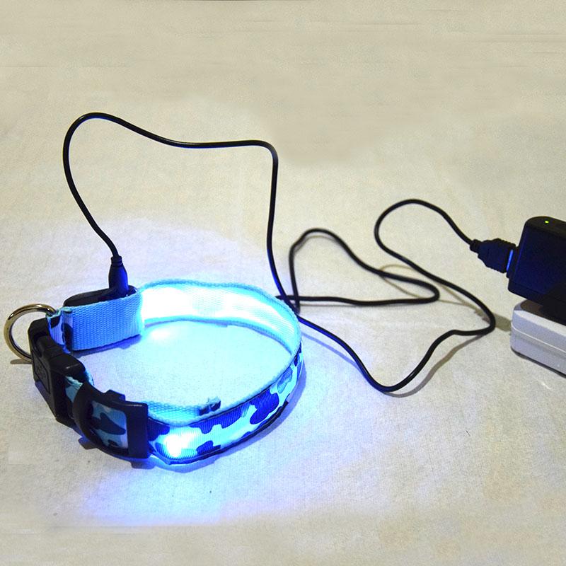 Pet Dog LED Flashing Glow light pet USB Collar Rechargeable Led Adjustable Luminous Necklace Glow at night pet collar(China (Mainland))