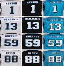 Lower Price Best quality jersey,Elite 1 cam 13 Benjamin 88 Olsen 59 Kuechly Jerseys,Size M-XXXL(China (Mainland))