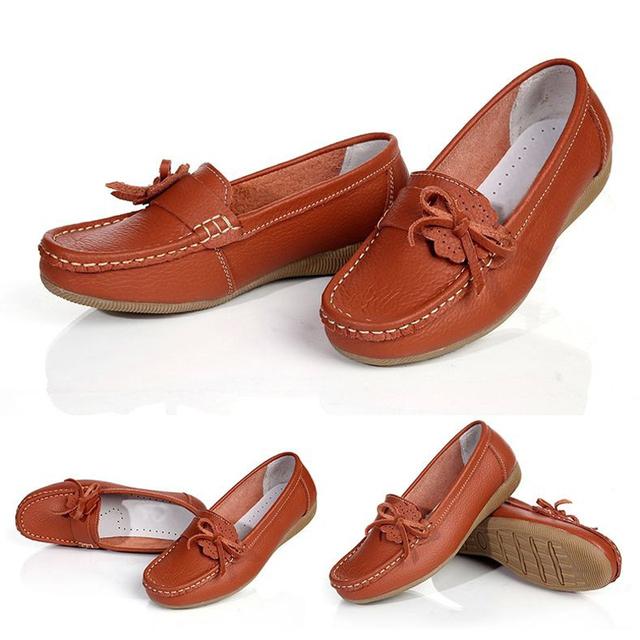Женщины квартиры женщины натуральная кожа обувь лежа мокасины женщина свободного ...