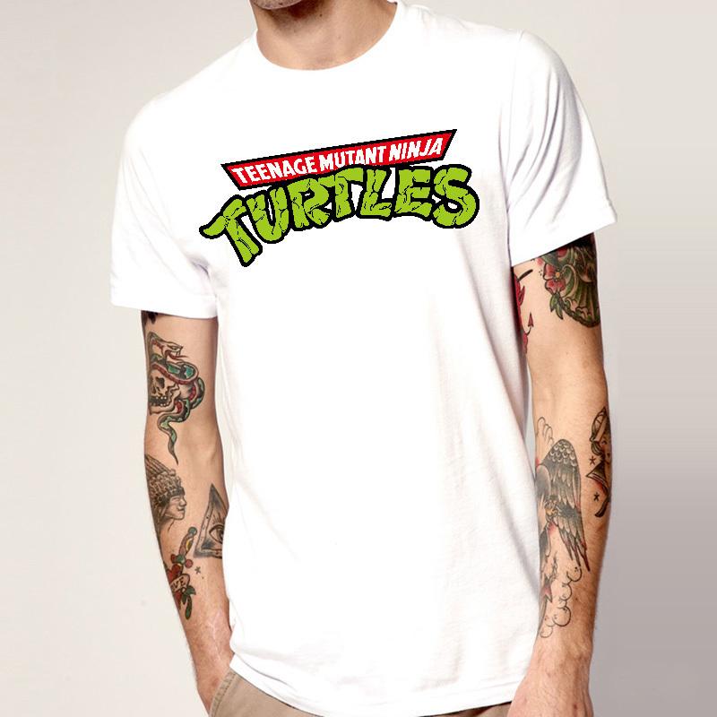 Teenage Mutant Ninja Turtles Mens Cartoon T Shirts Short Sleeve Round Neck Animal Funny Fashion Male