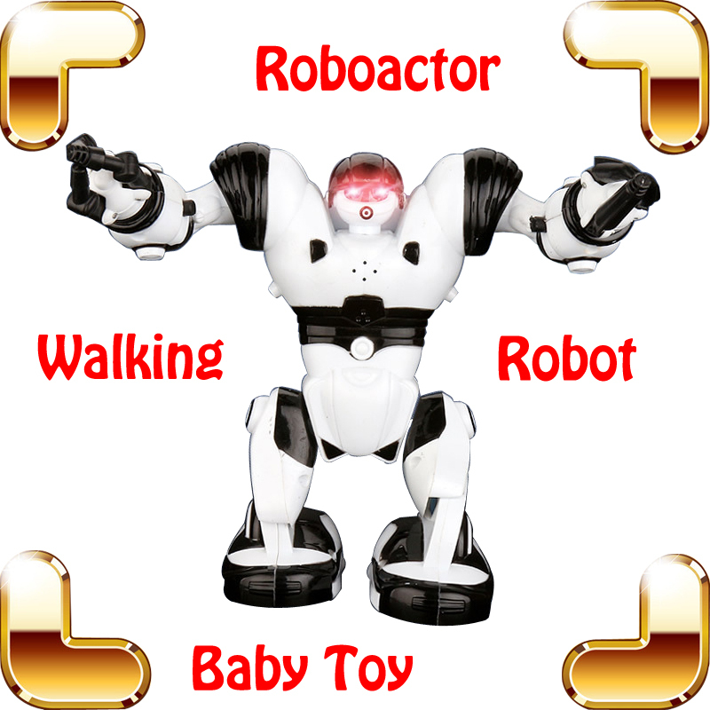 New Coming Gift ROBOACTOR Electric Mini Robot Toy For Children Lightning Eyes Dance Action Machine Education Learning Toy Figure(China (Mainland))