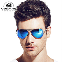 VEGOOS Real Polarized Men Pilot Aviation Sunglasses Flash Mirrored Lens Women Brand Designer High Quality Sun Glasses #3025MC(China (Mainland))
