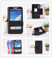 For Doov V1 Nike V1 Case High Qualit Fashion Mobile Phone Leather Case With Big Mobile Window Free Shipping
