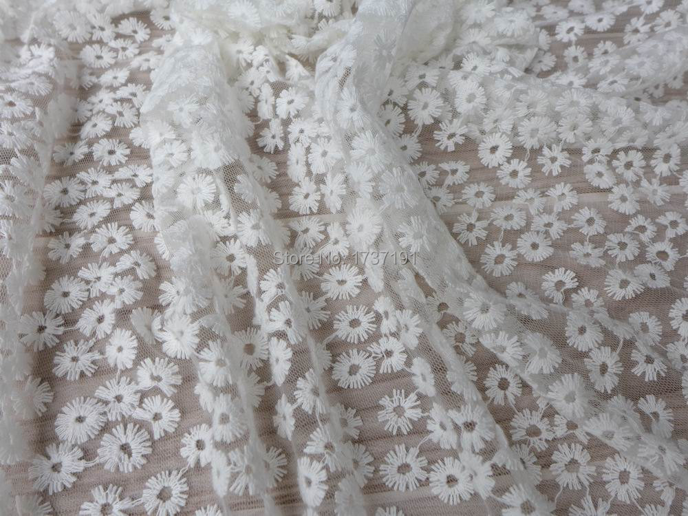 Buy off white lace fabric beautiful for Wedding dress fabric stores