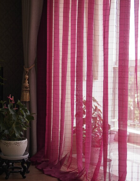 Curtains Ideas burgundy color curtains : curtain liner Picture - More Detailed Picture about Jacquard plaid ...