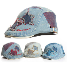 COOL!!Lovely 2015 Spring New Baby Hat Baby Cap For Child Hat Baby Boy Hat High Quality Cowboy Baby Beret Adjustable Size(China (Mainland))