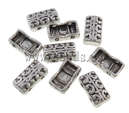 Free shipping!!!Zinc Alloy Connector,Korean, Rectangle, antique silver color plated, 2/2 loop, nickel, lead & cadmium free