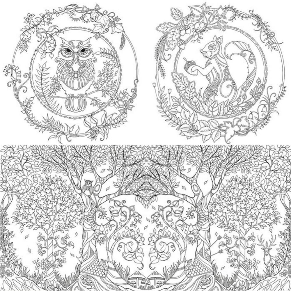 Enchanted Forest Coloring Book 9 Symbols Gallery For Gt Drawing