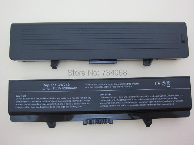 5200MAH laptop Battery For Dell Inspiron rn873 1525 1526 1545 1546 1750 GW252 GW240 GP952 PP42L PP29L PP41L K450N D608H RU583(China (Mainland))