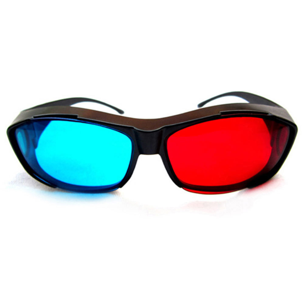 Universal Type 3D Glasses/Red Blue Cyan 3D Glasses Anaglyph 3D Vision Plastic Glasses Dropshipping Free Shipping(China (Mainland))