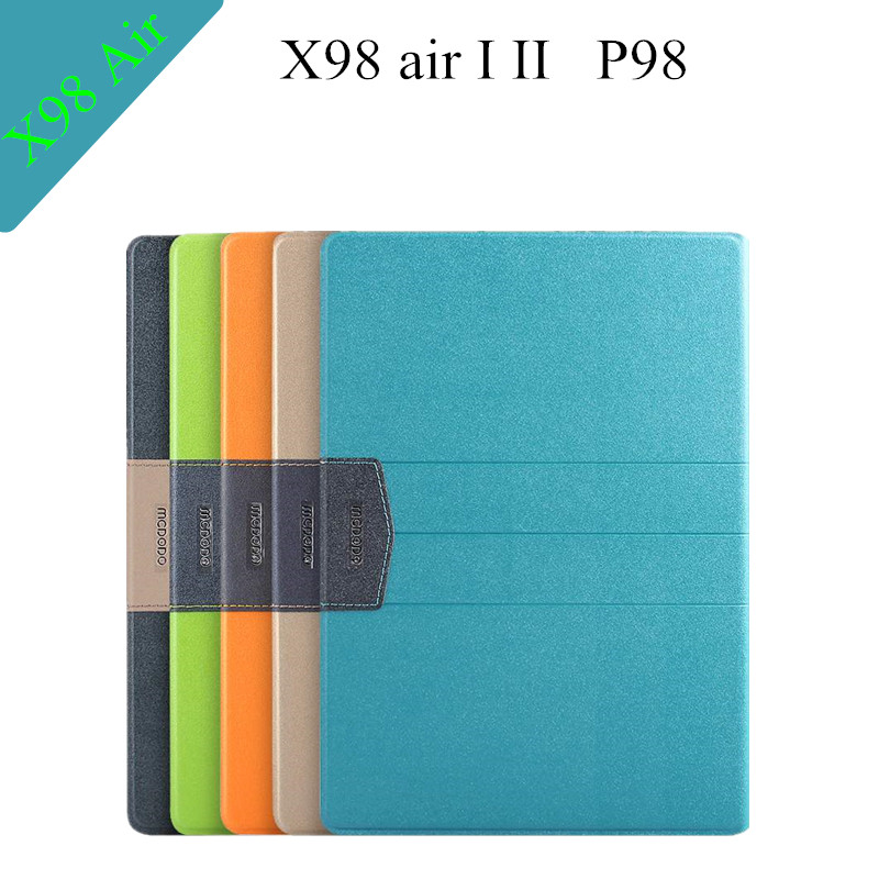 Brand P98 3G Flip Stand Leather Case For Teclast X98 Air 3G Slim Tablet Cover Case +screen protectors+touch pen(China (Mainland))