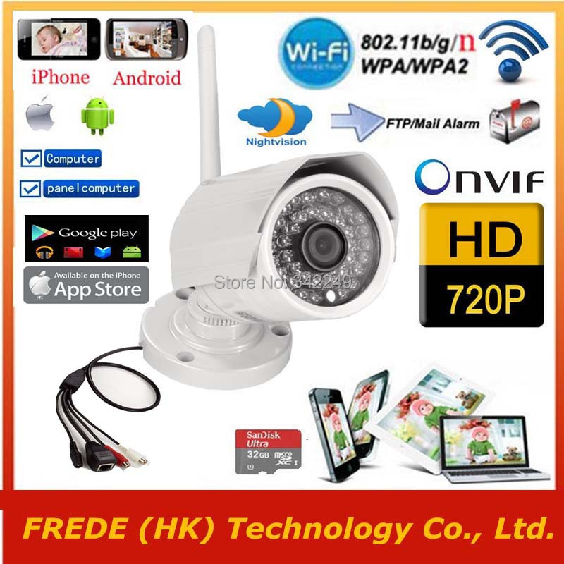 1280*720P,WiFi Wireless IP Surveillance camera,P2P,Outdoor Waterproof,Gargen Security network,5/4/3G by iphone android,PC,PAD(China (Mainland))