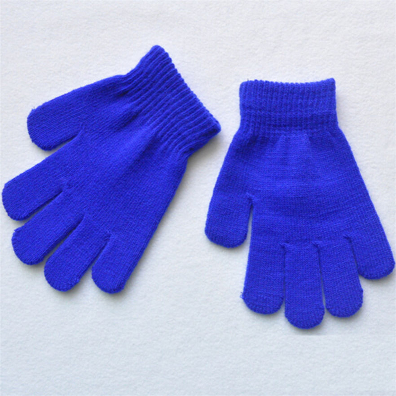 Blue Children Magic Gloves Baby Girl Boy Stretchy Knitted Winter Warm Accesseries(China (Mainland))