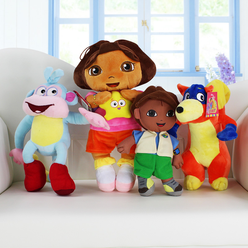 20-30CM Dora Soft Plush Toys Dora boots Monkey Swiper Fox Go Diego Doll Toys For Baby Toys Gift(China (Mainland))