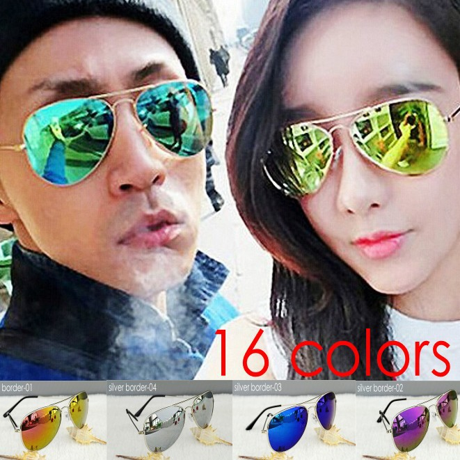HOT SALE Summer Coating fashion Sunglasses women & men top fashin design classic aviator Oculos unisex Sun Glasses 16 colors(China (Mainland))
