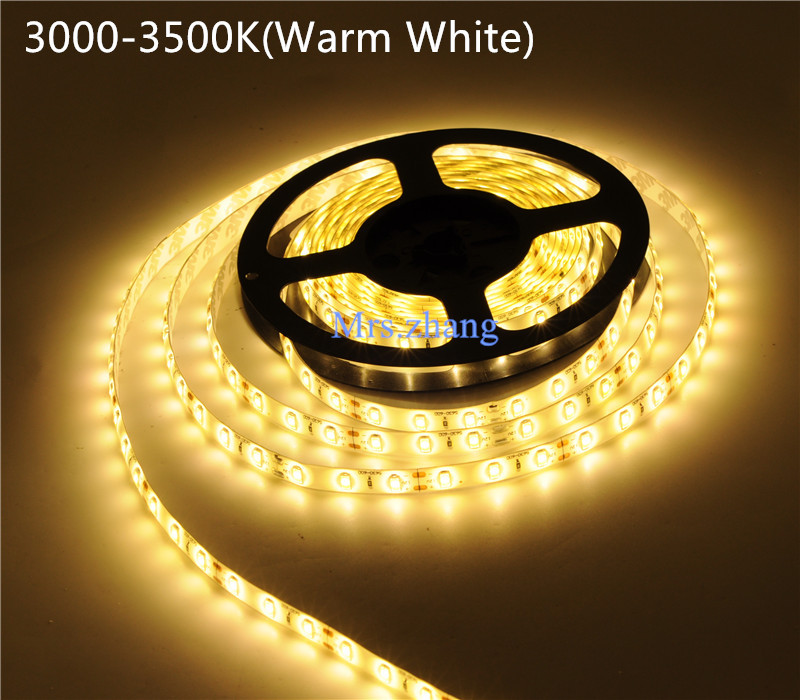 4x5M Warm White LED Strip 5630 SMD 60LEDs/M 300 LED Light 3200K DC12V<br><br>Aliexpress