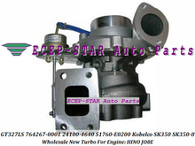 GT3271LS 764267-0001 24100-4640 S1760-E0200 water cooled Turbo Turbine Turbocharger For Kobelco SK350 SK350-8 Engine HINO JO8E