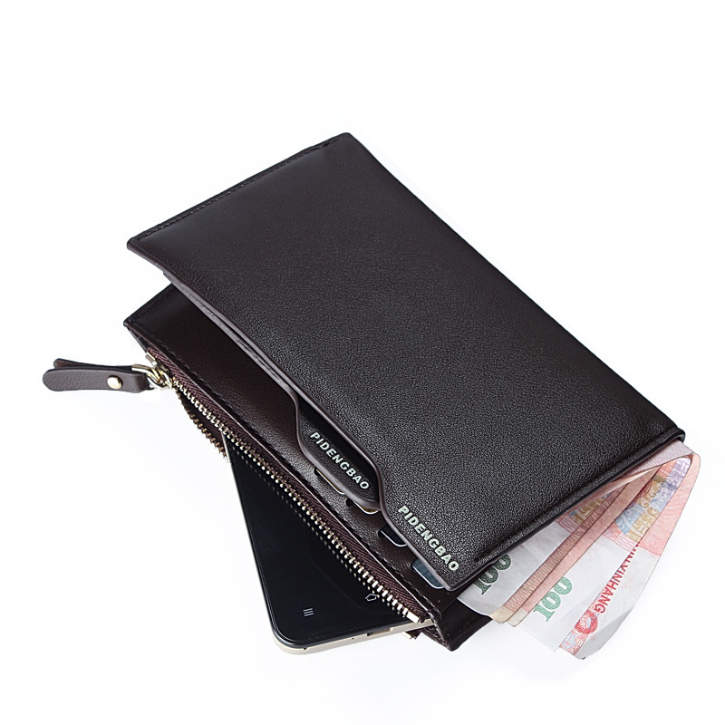 Originality Design Men Wallets Soft Quality Leather Middle Long Black Brown Driver's License Card Holder Wallet Free Shipping(China (Mainland))