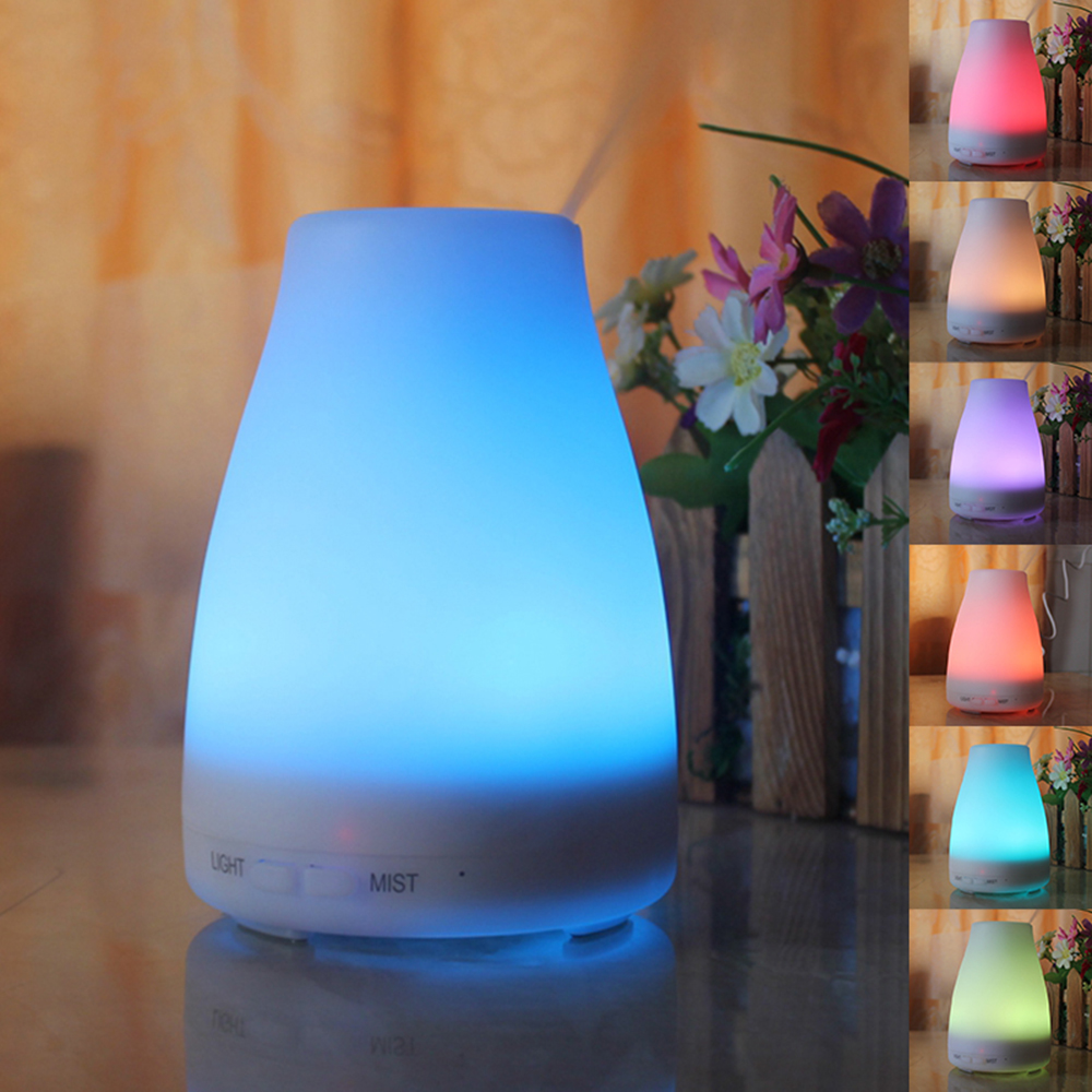 Ultrasonic Essential Oil Aroma Diffuser Aromatherapy Air Humidifier 7 Color Change Dry Protect Aroma Mist Maker(China (Mainland))
