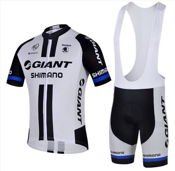 Giant white riding harness suits Team edition cycling wear short sleeve cycling suit ring cycling jerseys/straps cycling jerseys(China (Mainland))