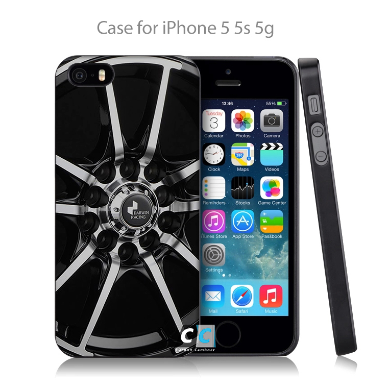 Logo for Polisned Aluminum Car Alloy Wheels Hard Black Skin Case Cover for iPhone 4 4s 4g 5 5s 5g 5c 6 6s 6 Plus Free Shipping(China (Mainland))