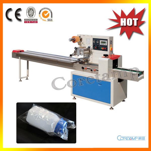 Automatic horizontal wrapping machine bottles - Flow-Pack-Machine And Vffs Packaging Machine store