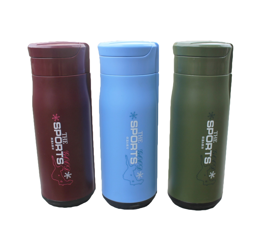 Portable Automatic switch Outdoors sports vacuum cups, 304 stainless steel thermos bottles, 360ml termal flask cups(China (Mainland))