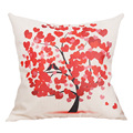 2016 Hot Sale Comfortable 16 kinds of Tree Pattern Printed Home Decorative Cotton Linen Cushion Cover