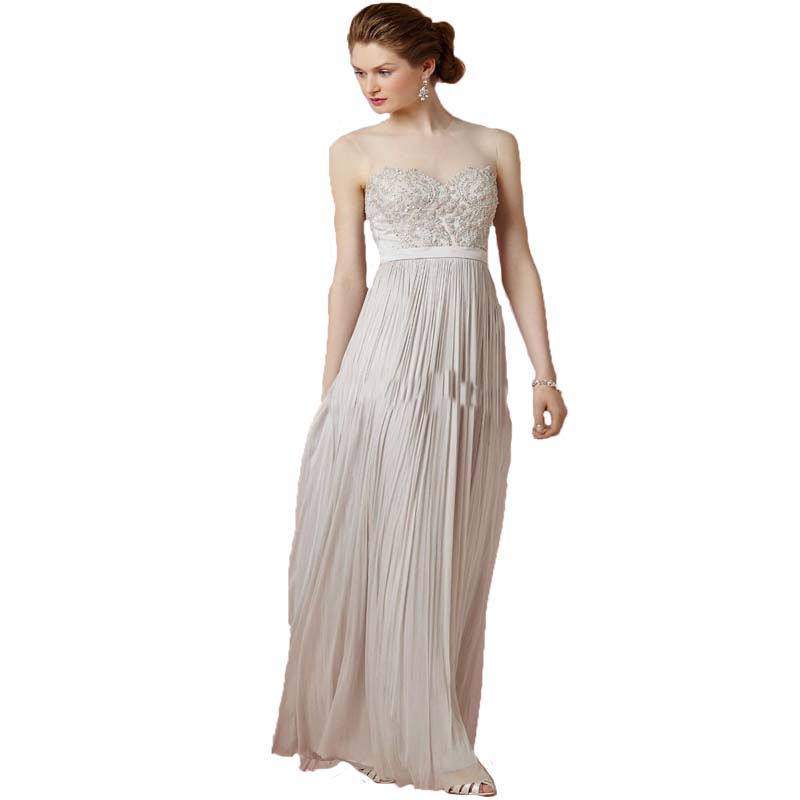 2016 new cheap casual see through high neck long chiffon for White summer wedding dress