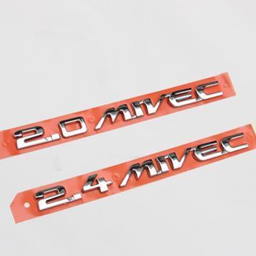 Car 3D 2 0 2 4 MIVEC Plating metal badge emblems for MITSUBISHI ASX MITSUBISHI ASX