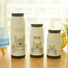 1pc Children Water Bottle Stainless Thermos Cups Portable Cute Cartoon Totoro Drinking Bottle(China (Mainland))
