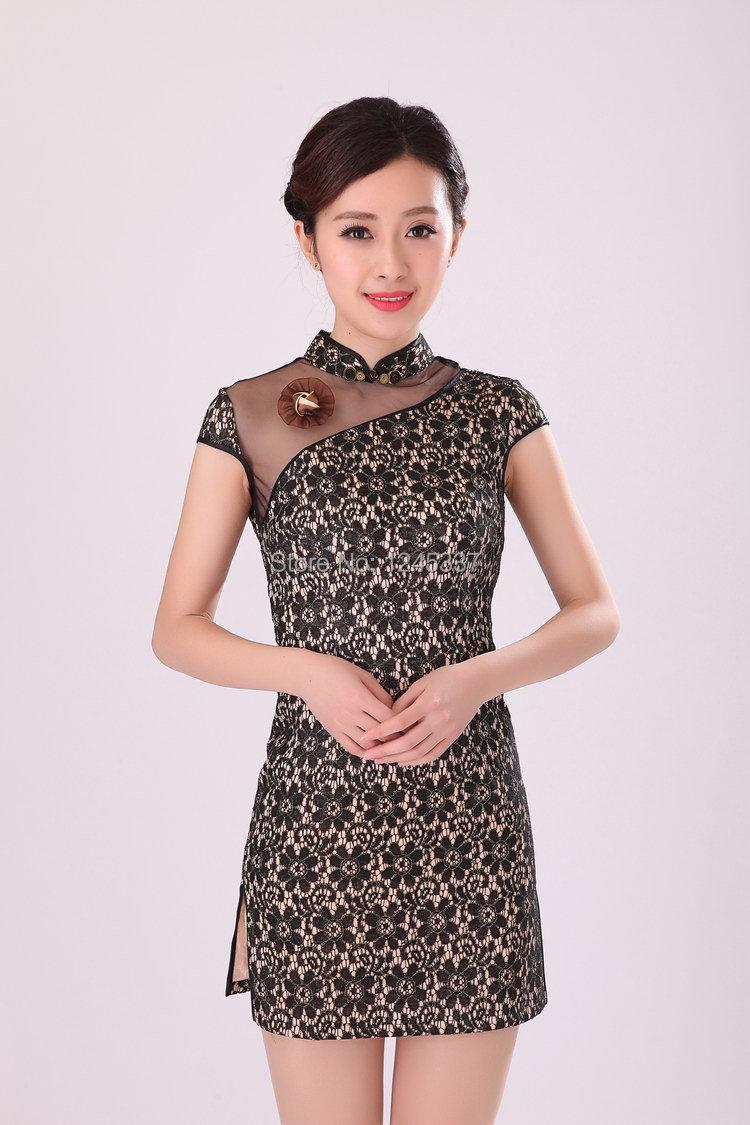 hot sale new 2014 chinese dress cheongsam dress short