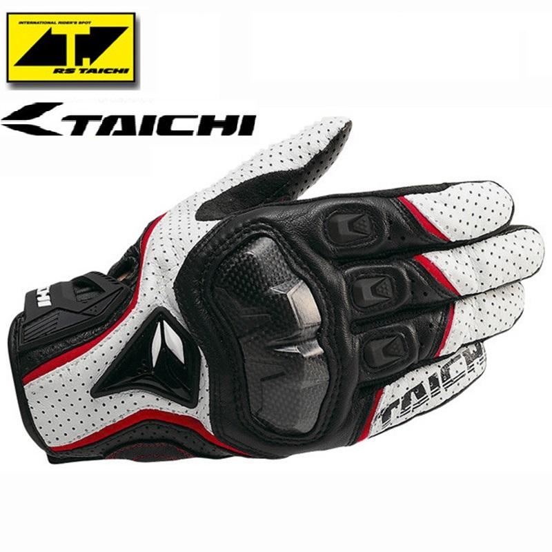 Гаджет  RS Taichi RST390 Mens Perforated leather Motorcycle Gloves Mesh Guantes Motocross Cuero Luvas Motorbike Black Red White None Автомобили и Мотоциклы
