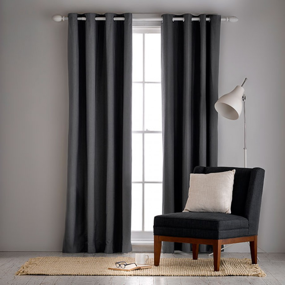 Aberdeen Oatmeal Lightfilter 140x230cm Eyelet Curtain Home