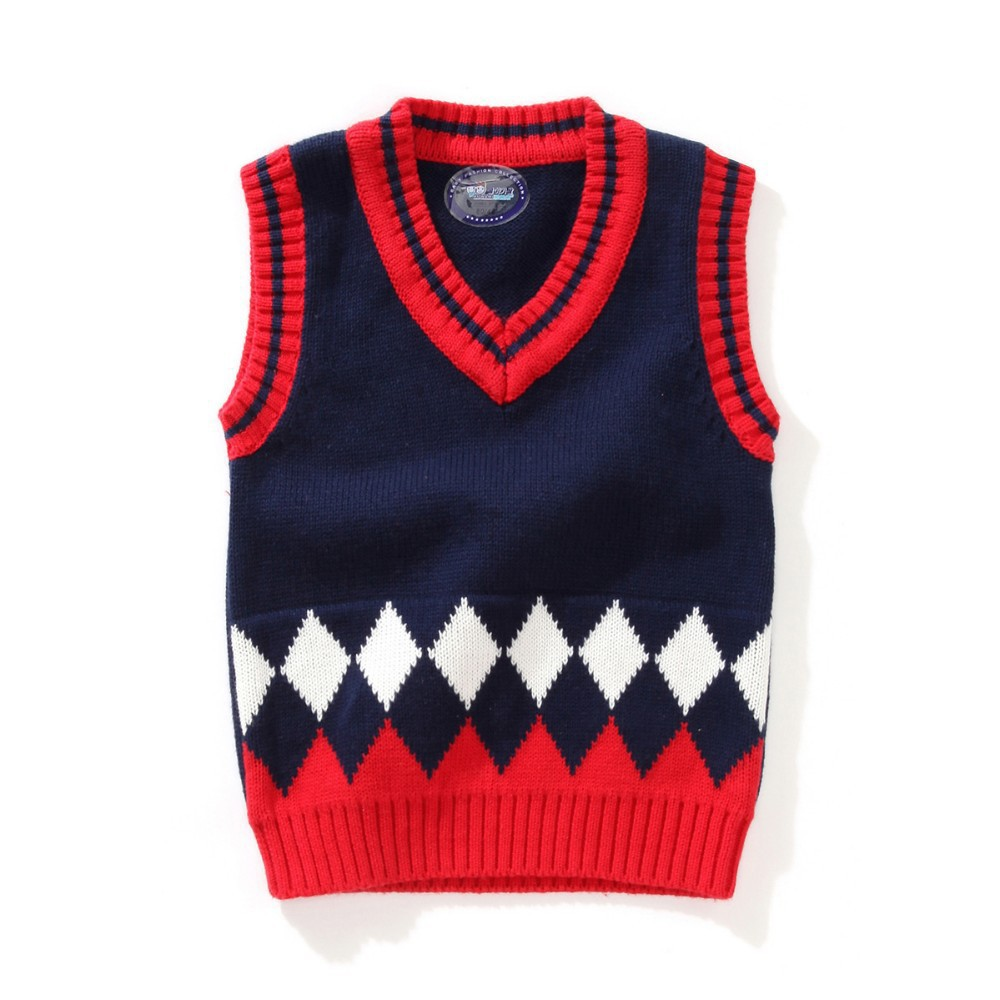 OneToo 1-5Y Baby Boy V-neck Sweater Vest Children sweatercoat Kids Knit Jacket Brand waistcoat Outwear Winter Coat Clothes(China (Mainland))